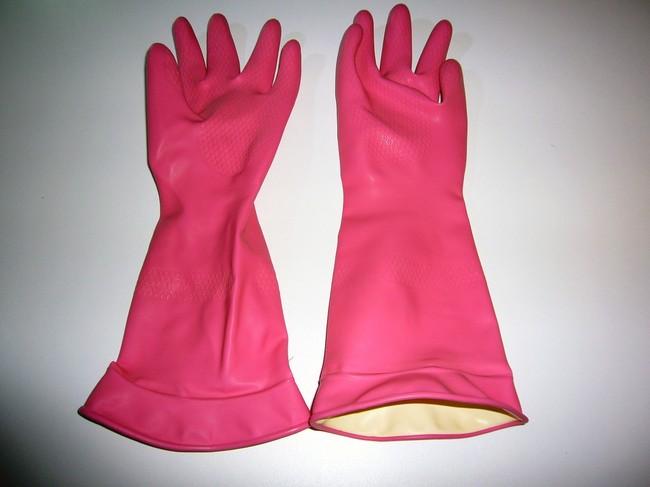 rękawice gumowe do zbierania psiej sierści