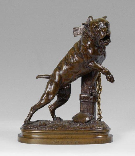 Stara figurka Doga kanaryjskiego