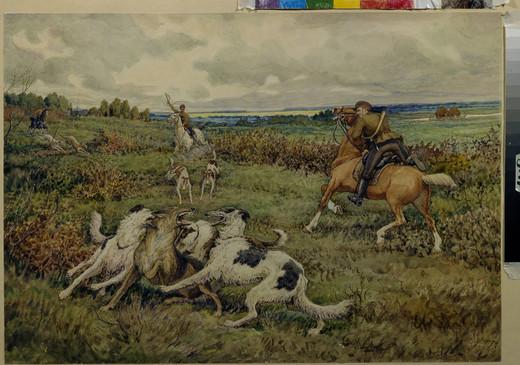 Polowanie na koniu z Chartami na wilka