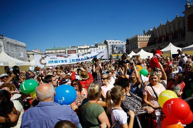 Marsz Jamników w Krakowie 2013 zbiórka