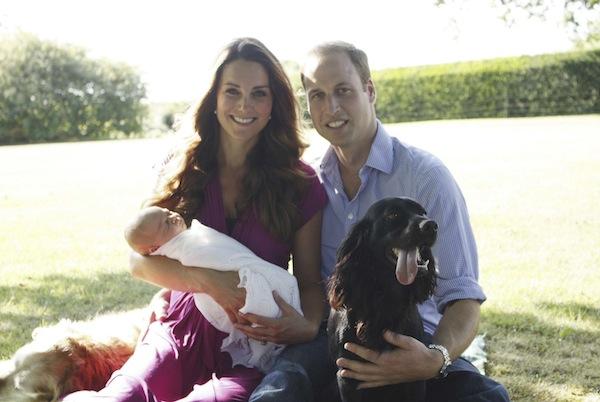 Rodzina królewska i pies Lupo
