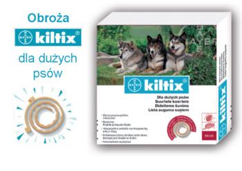 Obroża dla psów przeciw kleszczom i pchłod dla dużych psów